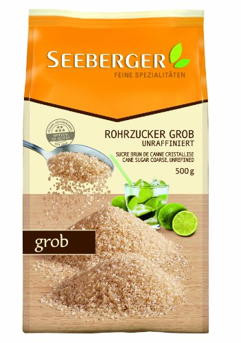 Seeberger Rohrzucker grob, 500 g Packung