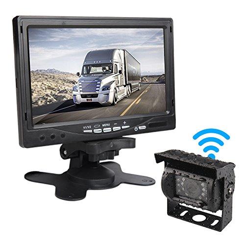 Car Rover Sans fil Camion Caméra de Recul Système de Stationnement avec 7 'HD TFT Monitor