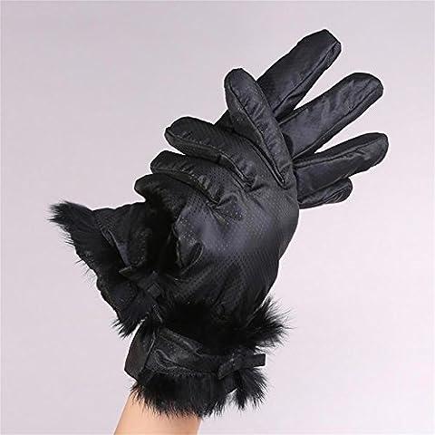 YONG Signore giù guanti di cotone spesso , 5