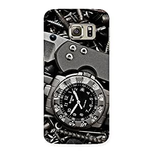 Delighted Knife And Watch Back Case Cover for Samsung Galaxy S6 Edge