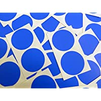 Minilabel 50mm (2 Inch) Round Circular Self-Adhesive Sticky Dot Labels, Coloured Stickers - Royal Blue Circles (Pack of 50)