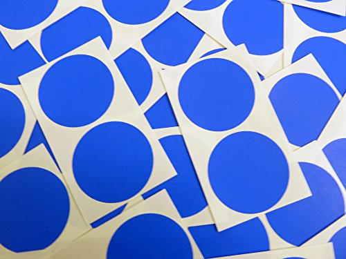 Minilabel - Puntos adhesivos (50 unidades, diámetro 50 mm), color azul y blanco