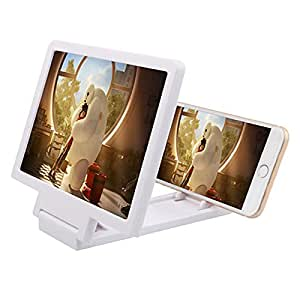 Universal Mobile Phone Analog 3D Video Folding Enlarged Screen Expander Stand for Blackberry Passports and any smartphone. Colour : White
