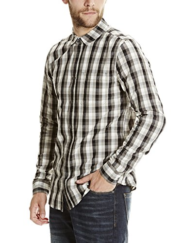 Bench Gradient Check, Chemise Casual Homme Mehrfarbig (Black BK022)