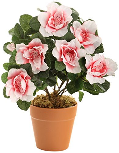 Closer to Nature Artificiale 27 centimetri rosa Azalea Plug Plant - Artificial Bedding Plug Impianti e Gamma display