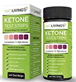 New Design: 120 Ketone Test Strips by NKD Living (120 Test Strips, 2 Stay Fresh Packs x 60) Accurately Detect and Measure Ketones, Made for Ketogenic, Low Carbohydrate Diets and Diabetics