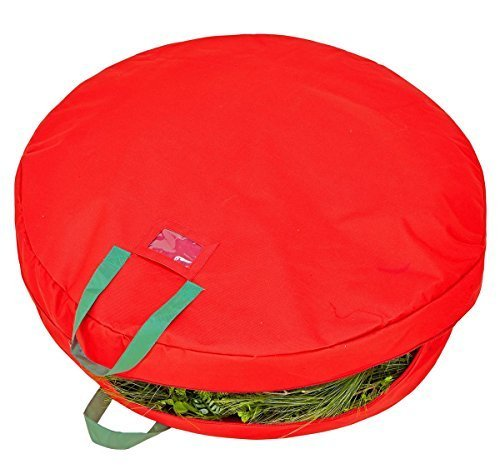 simplify-30-inch-wreath-storage-bag-heavy-duty-600-denier-polyester-holiday-red-by-simplify