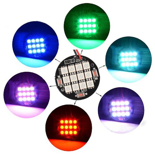 Enjoydeal LED-Vielzwecklicht / LED-Scheinwerfer für DJI Phantom Quadrokopter, RGB-Farbmodell, mit Aufkleber, für Nachtflüge