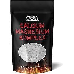 Calcium & Magnesium Komplex, 400 Tabletten Kalzium, 1200mg / Tagesportion, 100% rein + Hochdosiert, Vegan, Gliederschmerzen - Knochen, Gelenke, Blut und Zähne