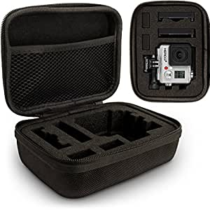 Optix Pro klein EVA Hartschale Reise Hülle Etui Reisverschluss & herausnehmbare Schaumstoffeinlagen für GoPro Hero5, Hero4, Hero3+, Hero3, Hero2 & Hero1 Action-Kameras