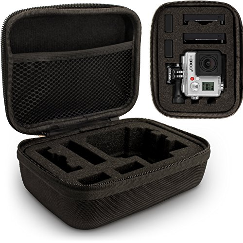 Optix Pro klein EVA Hartschale Reise Hülle Etui Reisverschluss & herausnehmbare Schaumstoffeinlagen für GoPro Hero5, Hero4, Hero3+, Hero3, Hero2 & Hero1 Action-Kameras (Gopro Hero1)