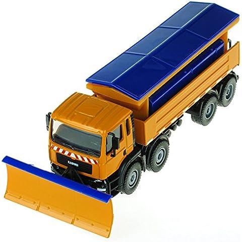 eMart Niños Aleación Fundido a Presión Die-Cast Modelos Vehículo Juguete 1:50 Camión del Quitanieves Coches y Salida de Nieve Miniatura Toys Metal Regalo de