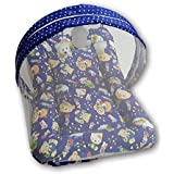 Pinks & Blues New Born Baby Sleeping Net Set With Small Retangular Frill Pillow (Royal Blue) 0 - 20 Months