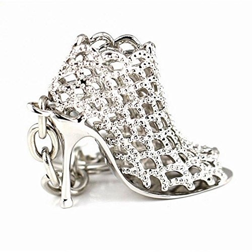 Trixes Schlüsselanhänger High Heels Mode Schuh Silber Kette