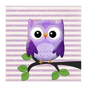 Tableau enfant - Hiboux Violet