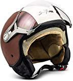 Soxon SP-325 'Vintage' · Jet-Helm · Motorrad-Helm Roller-Helm Scooter-Helm Bobber Mofa-Helm...