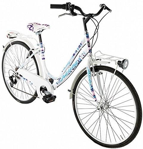 Preisvergleich Produktbild 26 Zoll Damen City Fahrrad 6 Gang Alpina Kariba,  Farbe:blau