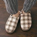 YSFU Hausschuhe Slipper Frauen Gitter Bottom Soft Home Hausschuhe Warme Baumwolle Schuhe Frauen Indoor Slip-On Schuhe Für Schlafzimmer Haus, 43.5
