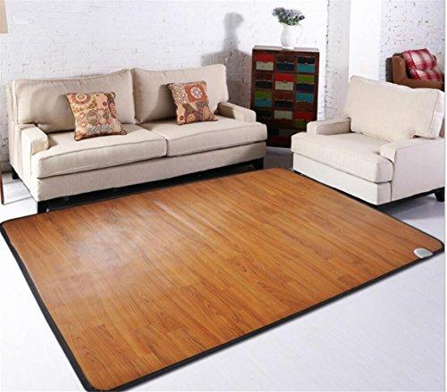 FFJTS 1 * 1 m Móvil estera geotérmica hogar manta eléctrica calefacción eléctrica piso móvil alfombra otomana caliente