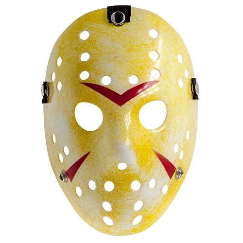 Smartfox Jason Voorhees Vintage Eishockeymaske Maske aus Freitag der 13. - Halloween Costumeplay Cosplay