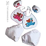 Widmann - AC1575  - Set bebe adulte ( bonnet+couche+bavoir) assorti