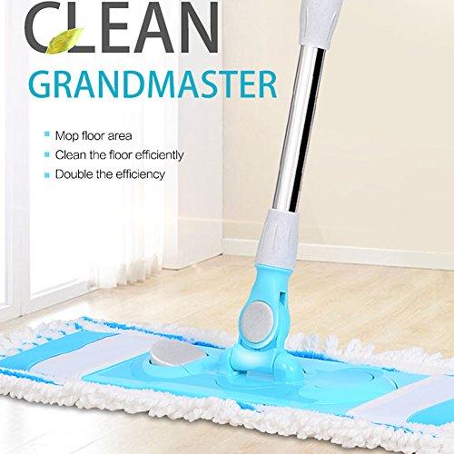 VAIIGO Microfibra mocio piegato Dust Push 60 cm Microfiber Floor Mop (incluso 2 panno in microfibra ricariche)