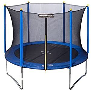 ultrasport uni jump garden outdoor trampoline with safety net blue 12 ft 366 cm. Black Bedroom Furniture Sets. Home Design Ideas