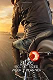 2020 Pocket Sized Weekly Planner: Cafe Racer Motorcycle Rider   Daily Weekly Monthly View   Simple Biker Calendar Organizer   4x6 in 110 pages   One 1 Year Agenda Schedule   To Do Lists and More!