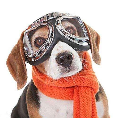 KAJIMMA Folding Pet Sonnenbrillen Hundebrillen Sonnenbrillen UV-Schutz Faltbare Einstellbare wasserdichte Brillen für Cat Dog (2)