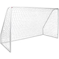 Debut Sport portería de fútbol de PVC Kid 's, color blanco, tamaño 10 x 6 ft
