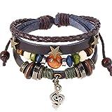Sunnywill Mehrschichtige Hand Wind Perlen gewebt Armband Vintage Bohemia für Mädchen Frauen Damen (X)