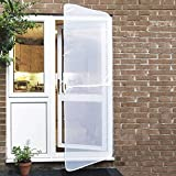 Instant Door Screen   Non-Stain, Attractive Wipe Clean Finish   Lightweight Easy-Fit Frame