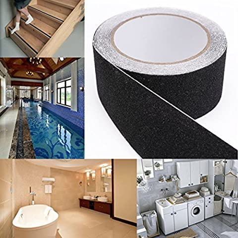10m Black ANTI SLIP TAPE High Grip Adhesive Sticky Backed Non Slip Safety Flooring