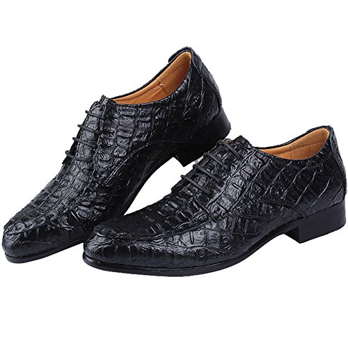 Odema Man Kleid Hochzeit Büro Business Arbeit Party Schuhe Gentleman Casual Pointed-Toe Schlupfschuhe Schwarz