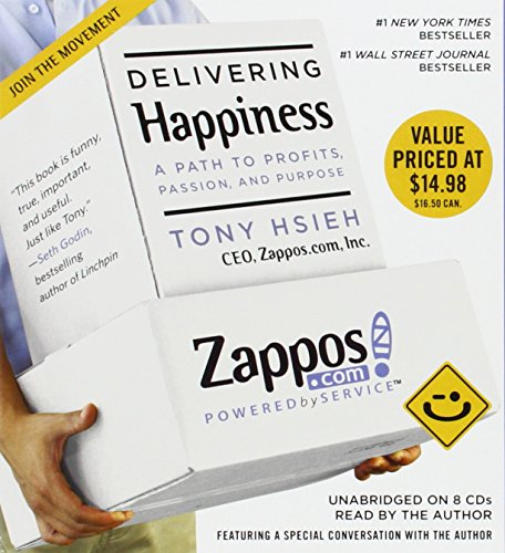 Buchseite und Rezensionen zu 'Delivering Happiness: A Path to Profits, Passion, and Purpose' von Tony Hsieh