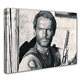 Terence Hill Bud Spencer - Der müde Joe - Revolver - Die rechte und die linke Hand des Teufels - Leinwand (80 x 60 cm)