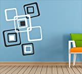 [ Myhome ] SQUARE black & white Pvc Vinyl Wall sticker ( withBuy one Vinyl Sticker and get 1. Set Black and Red Vinyl sticker Free ) best price on Amazon @ Rs. 199