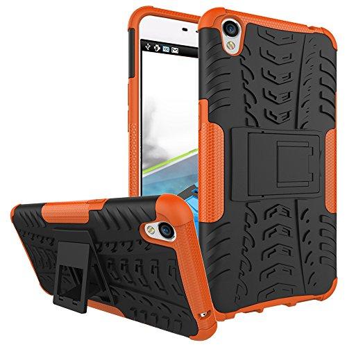 COVO® Festigkeit und Flexibilität Zurück Cover Style Smartphone Hülle mit Kickstand für OPPO F1 Plus (Orange)