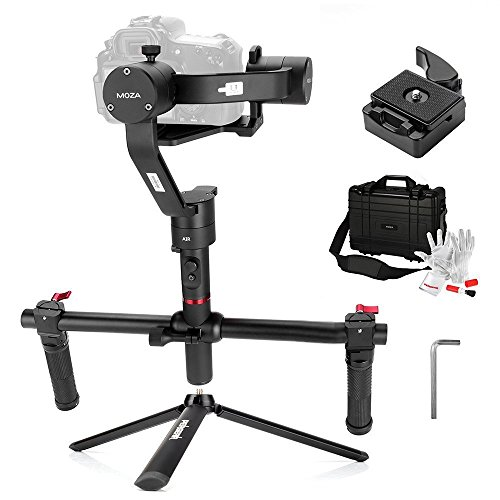 For Sale MOZA Air 3 Axis Handheld Gimbal Stabilizer with Dual Handheld Grip 3 Axis 360 Degree Unlimited Rotation for Cameras Between 1.1Lb-5.5Lb Sony A7 Series Panasonic GH5 GH4 GH3 BMPCC Canon EOS 5D Mark IV on Amazon