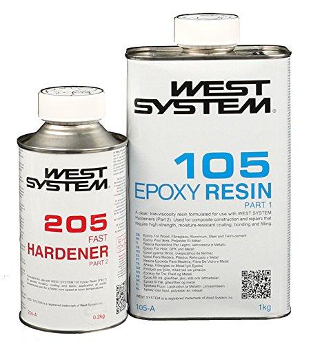 West System A-Pack Epoxid mit Schnell-Härter 105-205A - 1,2kg (System Harz West)