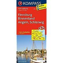 Flensburg Binnenland - Angeln - Schleswig: Fahrradkarte. GPS-genau. 1:70000 (KOMPASS-Fahrradkarten Deutschland, Band 3002)
