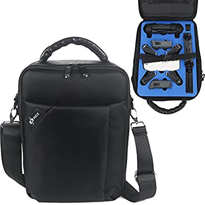 Kismaple Spark Case, Waterproof Portable Storage Bag Shoulder Carrying Case Suitcase Case Handbag for DJI SPARK Drone and Accessories from Kismaple