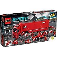 LEGO - F14 T y camión de la escudería Ferrari, ...