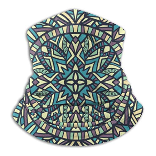Jxrodekz Calentador de Cuello Polaina Mandala Patrón sin Costuras Fondo Ornamento Tribal Diadema Bufanda Deportes Sombreros Mascarilla Bandana Multifun