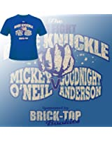Snatch movie t-shirt with Brick Top Bookies in a blue tee (s-xxl)