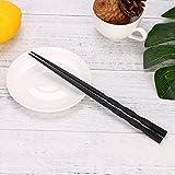 1 Paar Japanischen Stäbchen Legierung Rutschfeste Holz Farbe Sushi Chop Sticks Set Chinesische Geschenk Familie Freunde Kollegen Geschenke - Holz Farbe