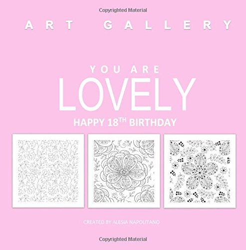 Lovely Happy 18th Birthday Adult Coloring Books In All D Gifts For Her Al Girl Decorations