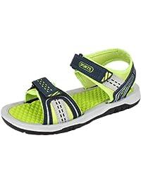 Bersache Men Canvas Green Sandals & Floaters