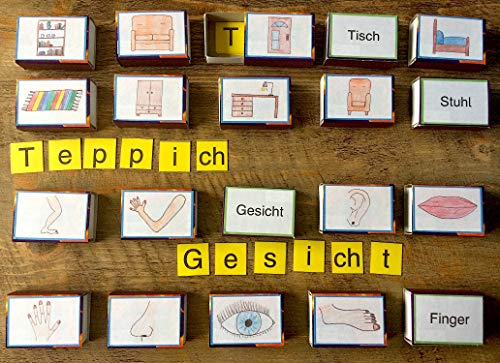 20 LESEDOSEN Körper Körperteile und Möbel Zuhause MONTESSORI Deutsch Sachunterricht KLASSE 1 und 2 Grundschule + FREIARBEIT Schulanfang LRS