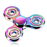 Metal Colourful Tri Fidget Hand Spinner Stress Reducer